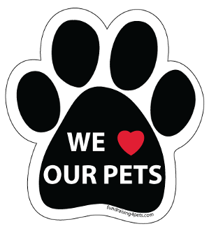 Pets clipart dog owner Pets Love Paw Magnet Our