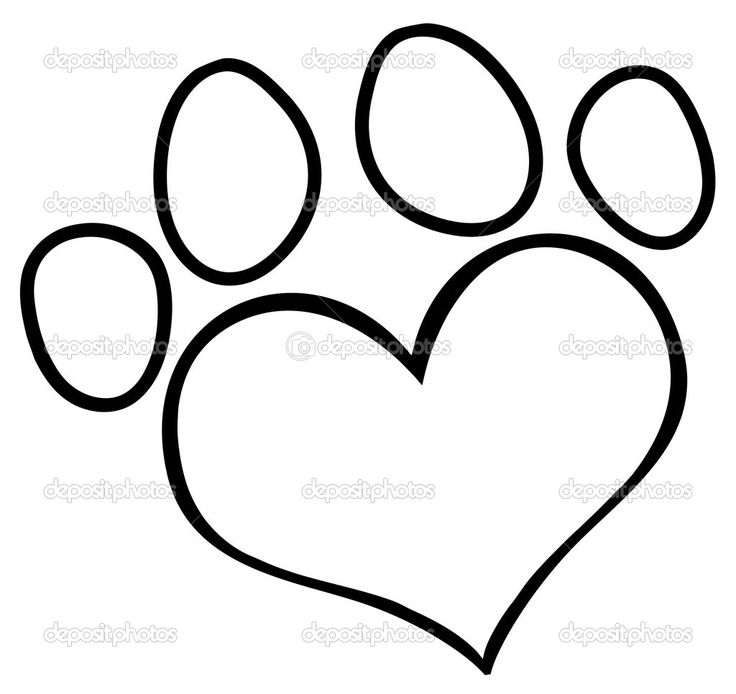 Paw clipart outline Art paw Paw 25+ dog