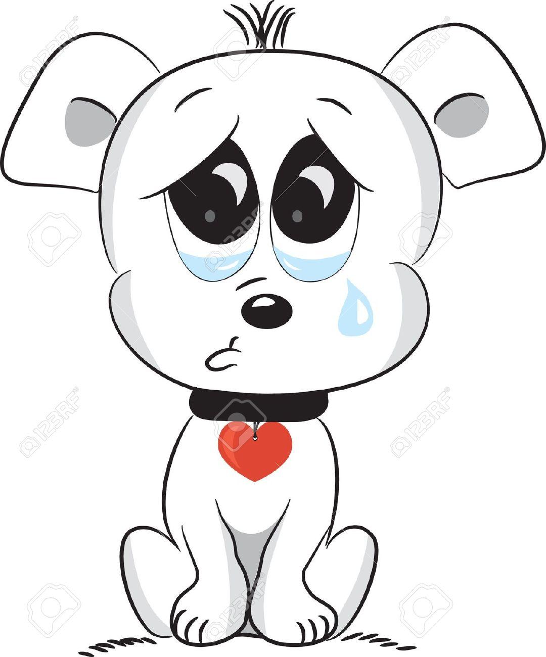 Pets clipart sad #15