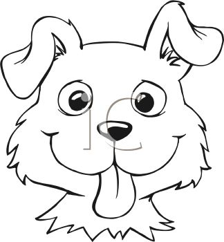 Black Cat clipart dog face And Clipart white Dog Face