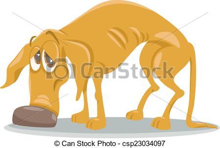 Perro clipart stray dog Cartoon Art Illustrations Illustration sad