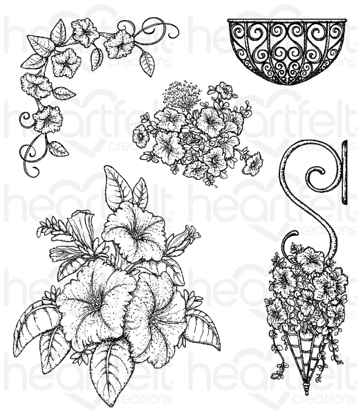 Petunia clipart black and white Stamp Heartfelt Gallery Bouquet Creations