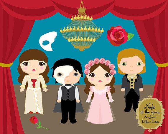Phanom clipart cape Art Opera Cuties Phantom Dollface