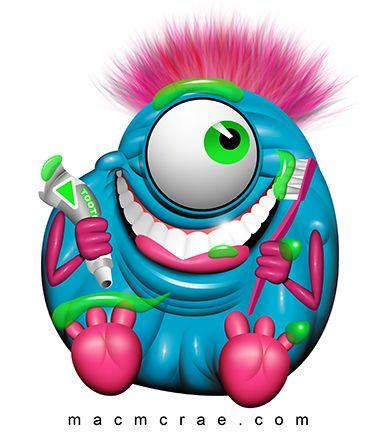 Phanom clipart monster tooth Lustige on Cartoon Monster Best