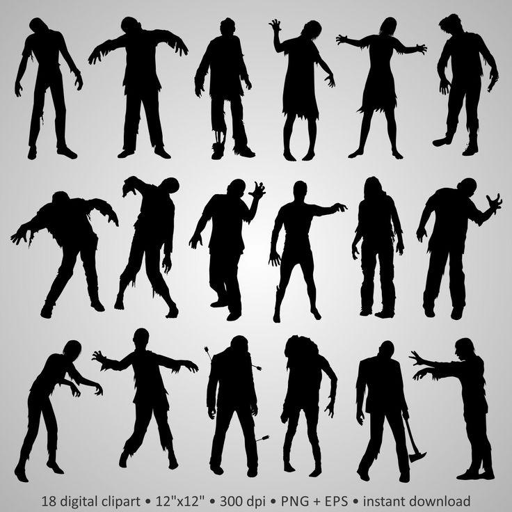 Zombie clipart silhouette Dead dead Clipart on Best