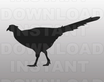 Pheasant clipart silhouette Etsy Cutting SVG File Pheasant