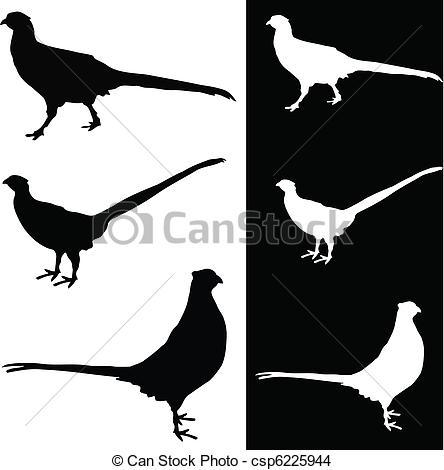 Pheasant clipart silhouette Silhouette vector silhouette Clip EPS