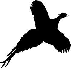 Pheasant clipart track / sticker pheasant decal