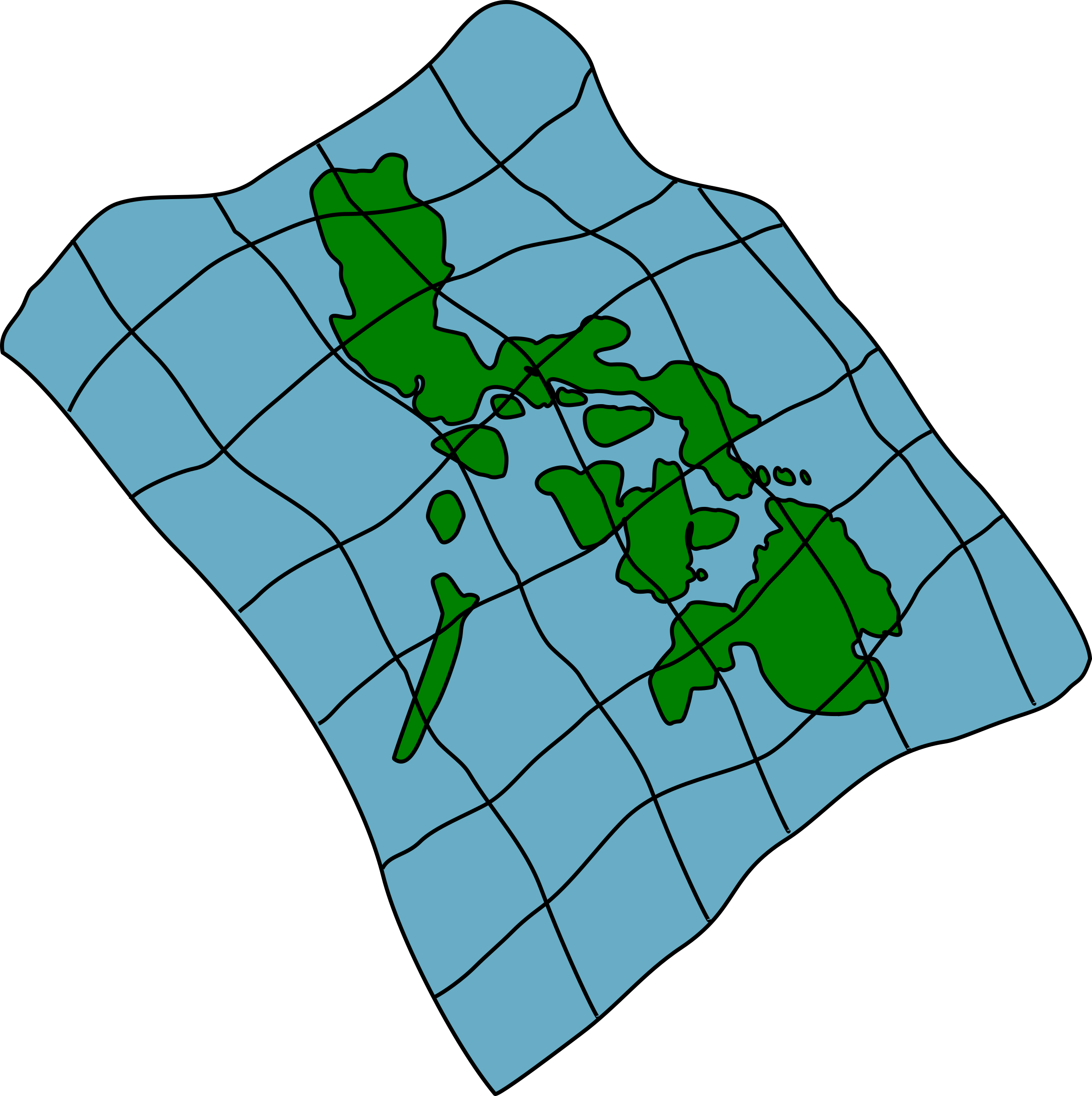 Phillipines clipart Of of the Map Map
