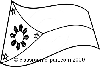 Philipines clipart black and white #9