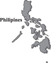 Philipines clipart black and white #11