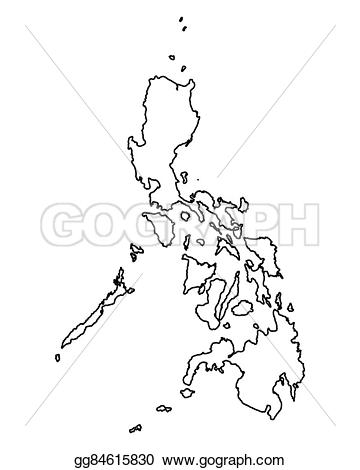 Philipines clipart black and white #14