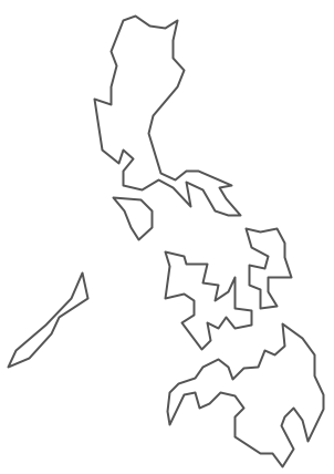Philipines clipart black and white #3