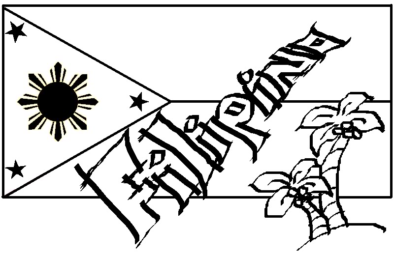Philipines clipart black and white #15
