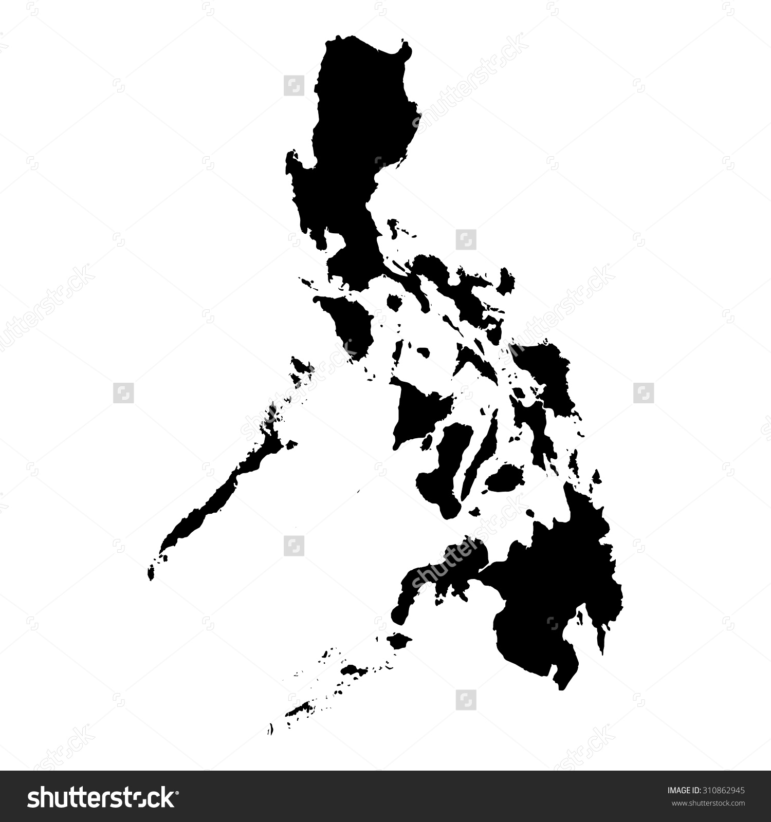 Philipines clipart black and white #13