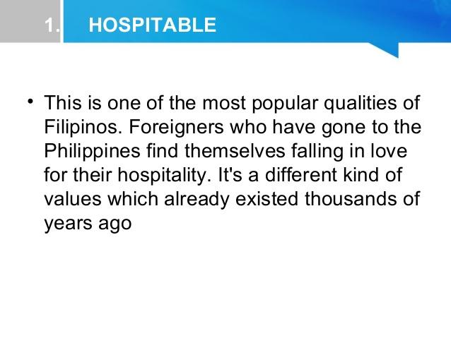 Philipines clipart filipino hospitality Traits 3 Filipino Characteristics 1