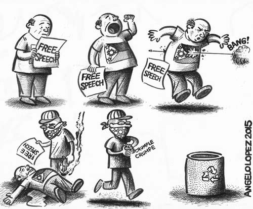 Cartoon by Lopez of 03/11/2015