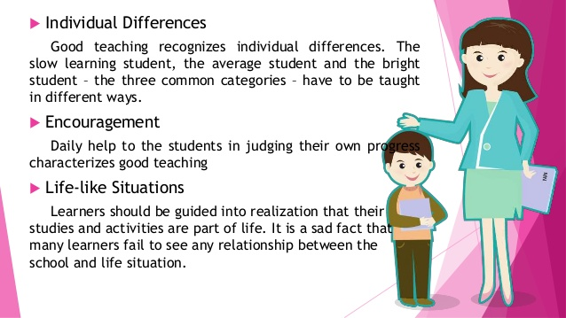Philipines clipart individual difference Principles Learning and needs; 7