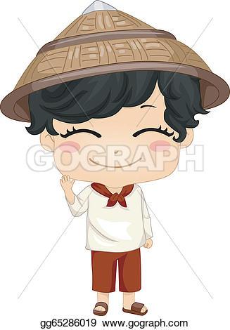 Phillipines clipart japanese boy Clipart Illustration cute Vector Stock