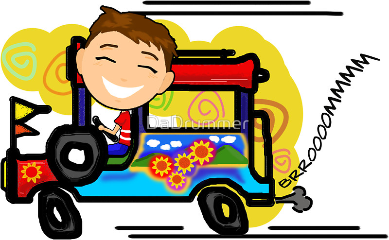 Philipines clipart jeepney driver DaDrummer Redbubble Jeepney Stickers Driver