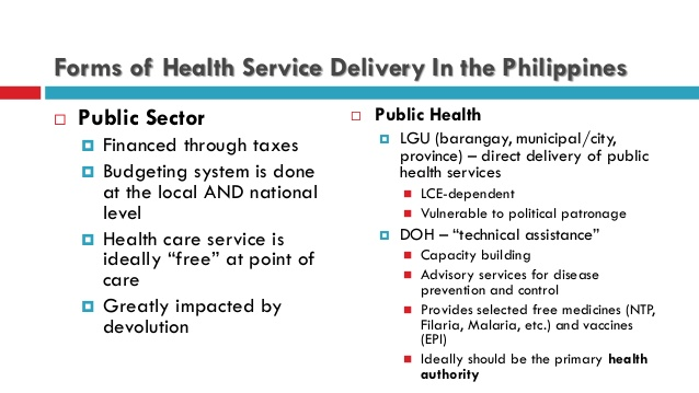 Philippine to of Delivery; Heal…