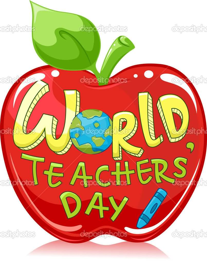 Word clipart teacher Wishes Apple Day Day And
