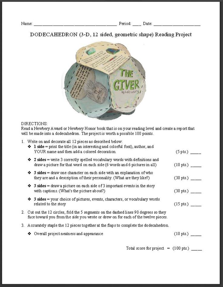 Philosophy clipart book report Dodecahedron printable worksheets photo guidelines