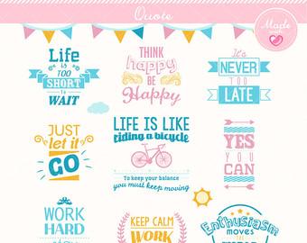 Philosophy clipart life Digital Motivational Inspiration Vector Typography