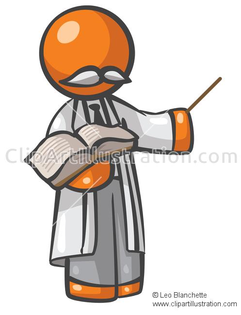 Suit clipart educated person Teaching Orange Class Professor Orange