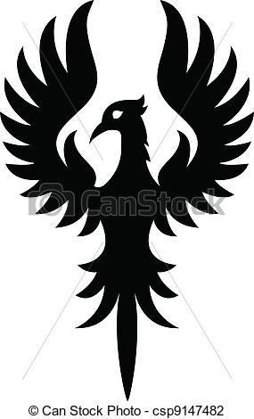 Phoenix clipart silhouette Clipart Phoenix  Black