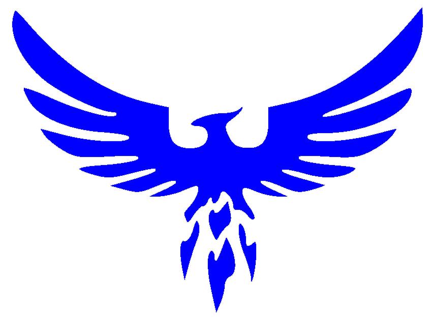 Phoenix clipart blue Background clipart Free Art clipart