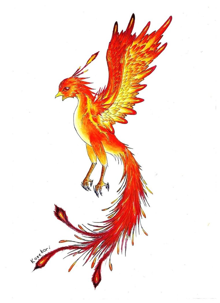 Phoenix clipart cute And feather Feather feather tattoo