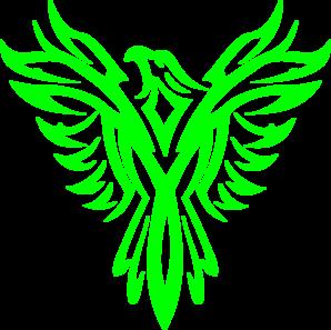 Phoenix clipart green Clip vector Phoenix Green Green