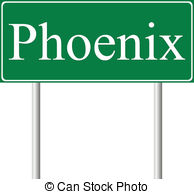 Phoenix clipart green Phoenix on road green Vector