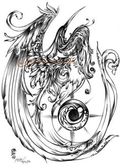 Phoenix clipart hans Awesome while  Pheonix design