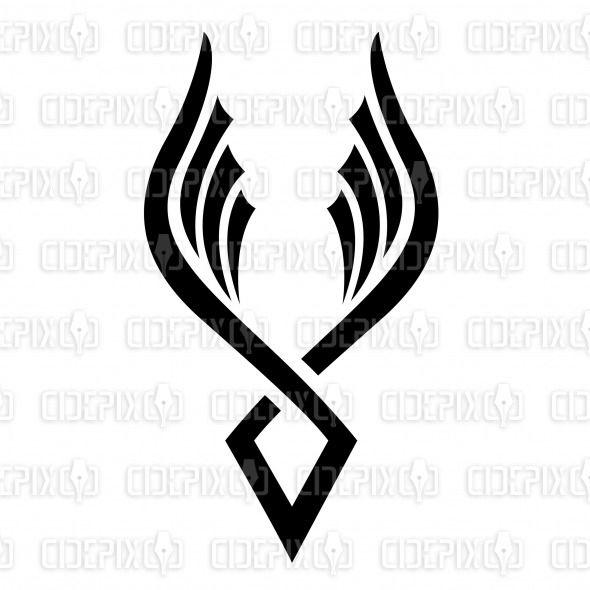 Phoenix clipart hans Vector Pinterest Black on like