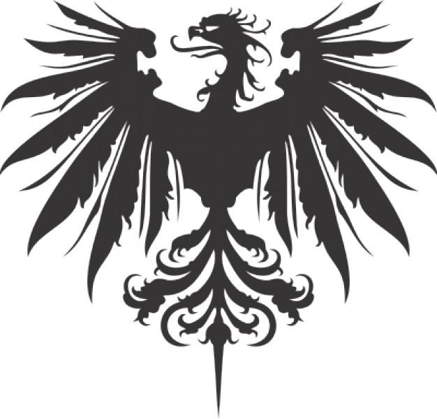 Phoenix clipart heraldry Like dragon icon XgraphX eagle