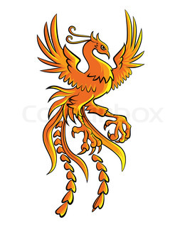 Phoenix clipart heraldry Burning phoenix phoenix drawn with