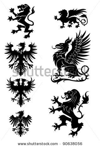 Phoenix clipart heraldry Eagle images Tapestry on Heraldry