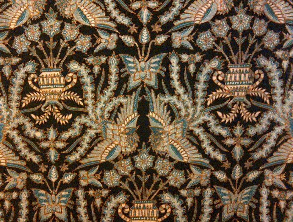 Fenix clipart motif batik Black and TIRTA Featuring motif