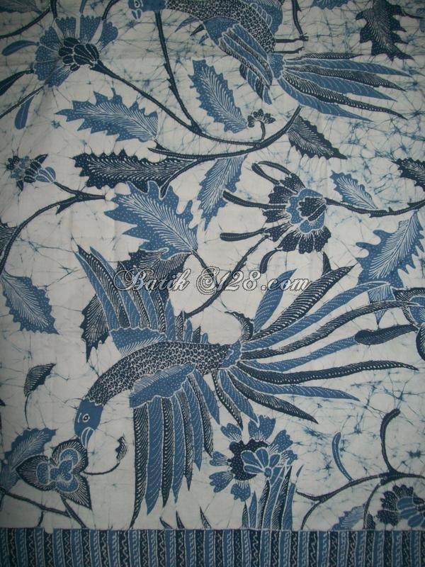 Fenix clipart motif batik Indigo Biru Burung Phoenix Alam