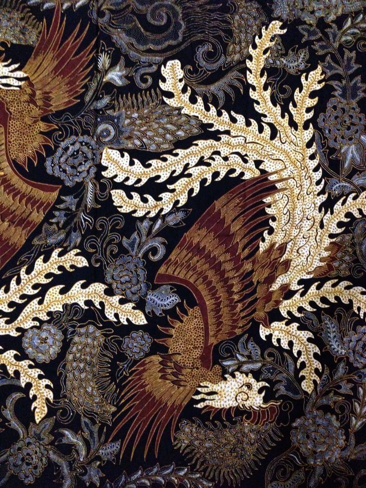 Fenix clipart motif batik Style Tulungagung on Batik Yunar