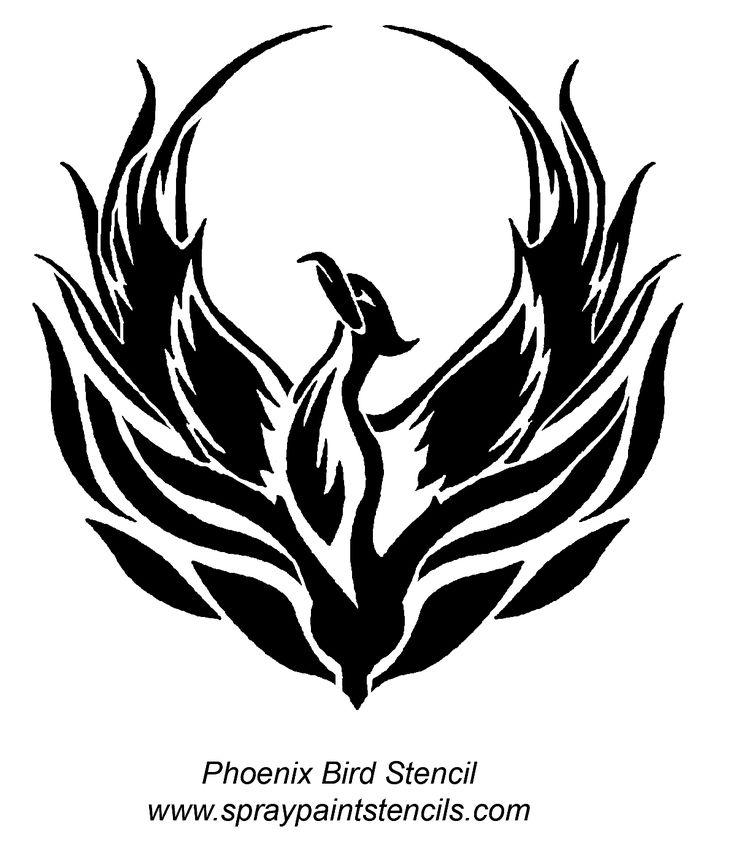 Phoenix clipart rising phoenix On Stencil Bird 51 Best