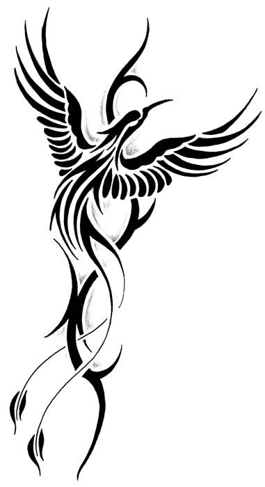 Phoenix clipart rising phoenix Designs bird > For Rising