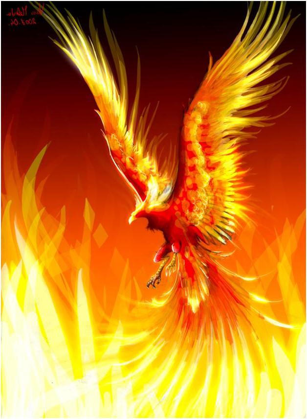 Phoenix clipart rising phoenix – Word clip – through