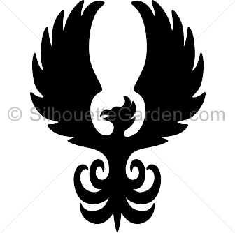 Phoenix clipart silhouette Silhouette Phoenix Silhouette