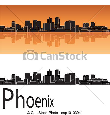 Phoenix clipart silhouette In Phoenix orange Phoenix Vector