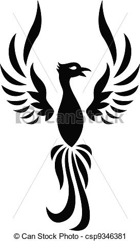 Phoenix clipart silhouette Art csp9346381 Vector silhouette Clip