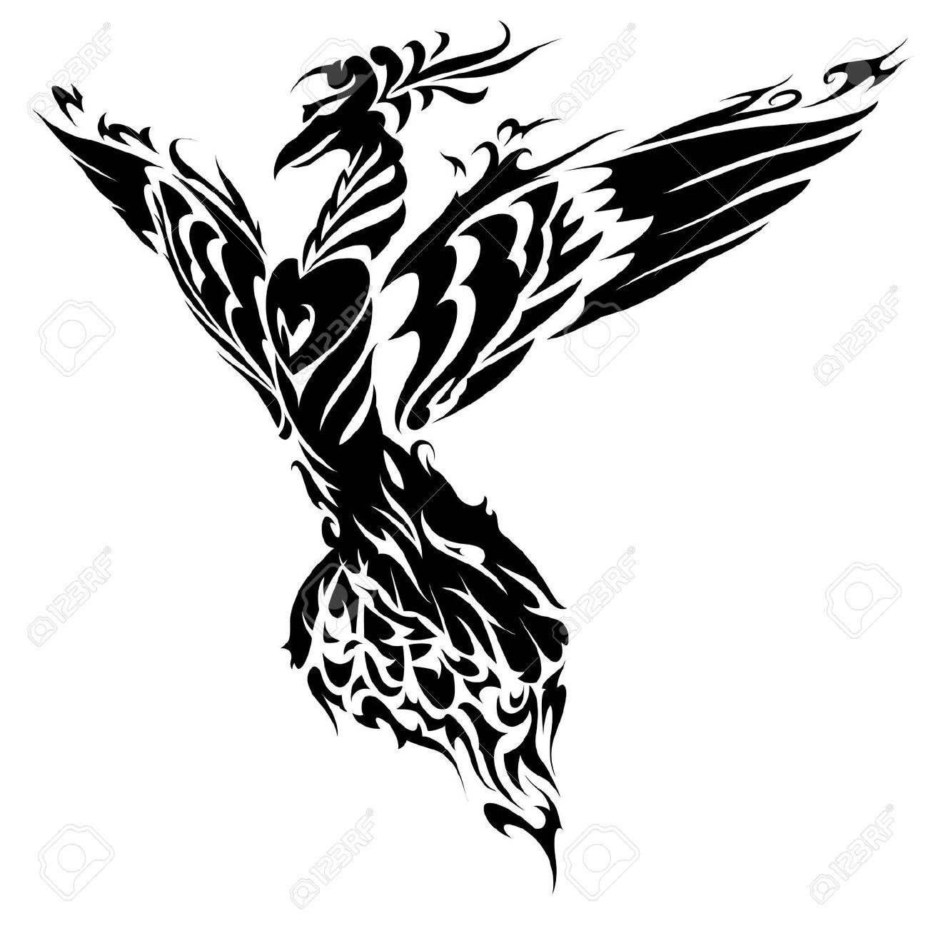 Fenix clipart stencil Cliparts  And Vectors Bird