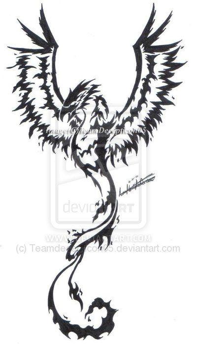 Fenix clipart tribal On tattoo 20+ ideas Phoenix